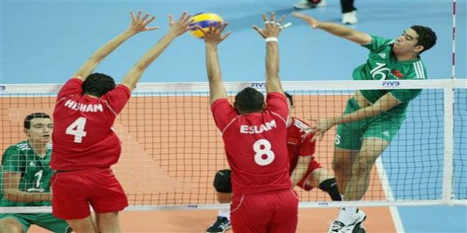 المنتخب المغربي للكرة الطائرة في المركز الثالث قاريا