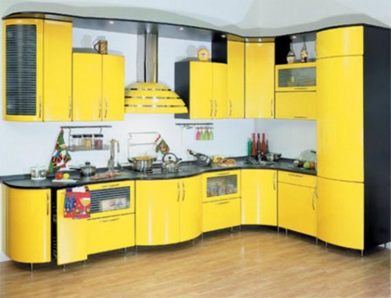 Yellow-Decorating-of-Modern-Kitchen-Island-570x434