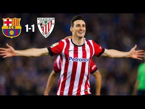 أهداف نهائي برشلونة وبيلباو : 1-1