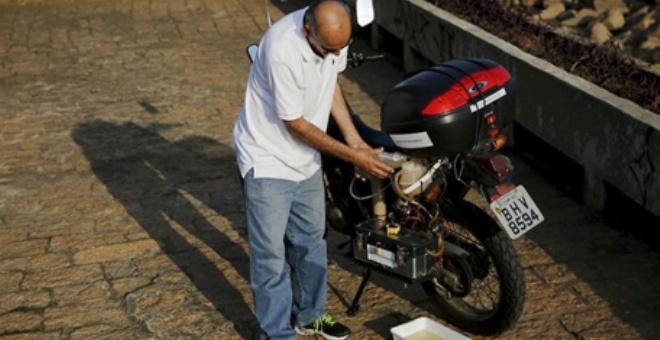 دراجة نارية وقودها الماء