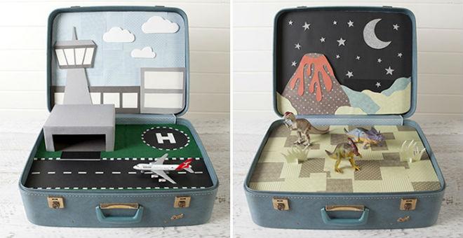 9 أفكار لإعادة استخدام  حقائب السفر القديمة في ديكور منزلك