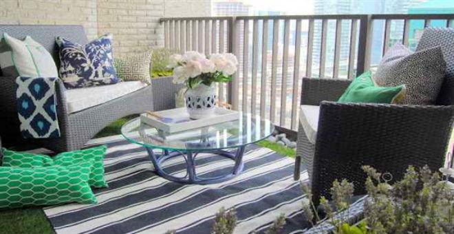 بالصور..أفكار مبتكرة لتزيين الشرفة الصغيرة