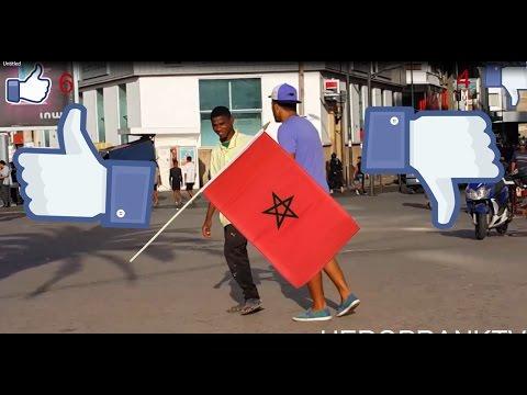 ردة فعل المغاربة عندما يُرمى علم بلادهم أمامهم