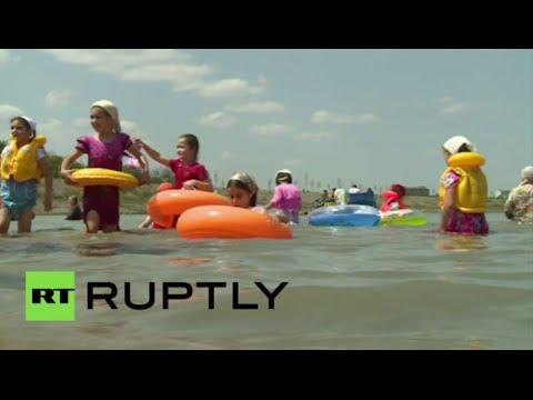 افتتاح أول شاطئ خاص بالنساء في الشيشان