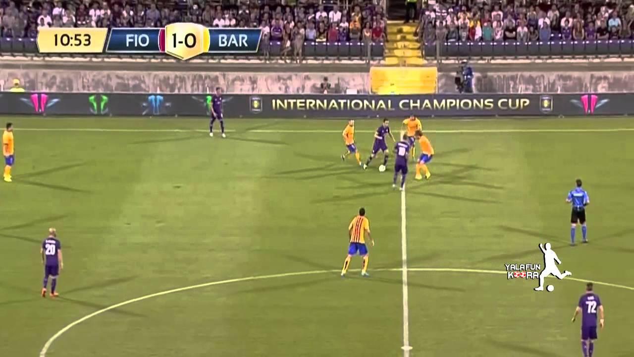 خسارة برشلونة أمام فيورنتينا :1-2