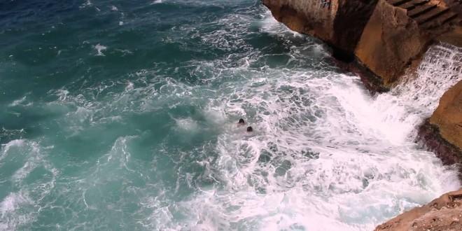 إنقاذ شاب من الغرق بشاطئ راس الماء