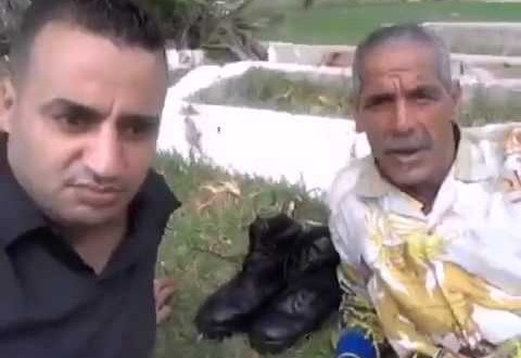 يونس بني ملال يزور علال القادوس داخل مقبرة ويدعو المغاربة لمساندته