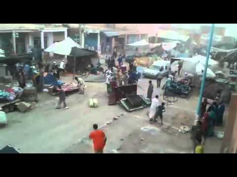 رياح عاتية تدمر سوقا جنوب المغرب