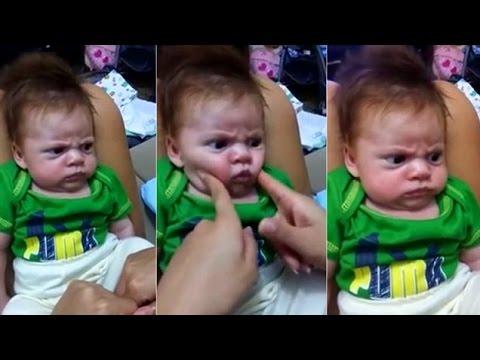 فيديو طريف لطفل يرفض أن يبتسم