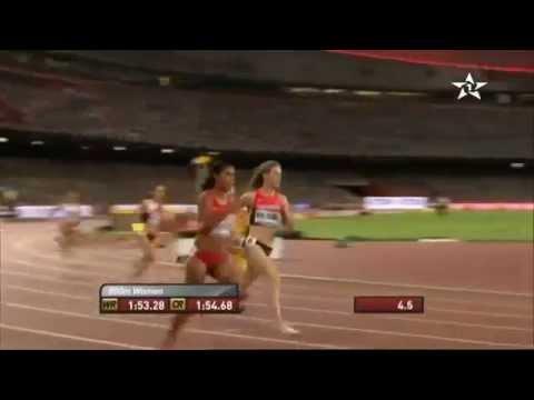 العداءة المغربية رباب العرافي تفوز بسباق نصف النهاية 800 متر