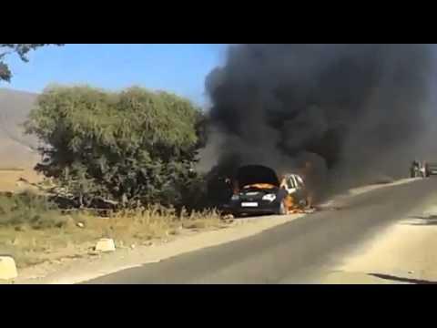 احتراق سيارة بالكامل جنوب المغرب