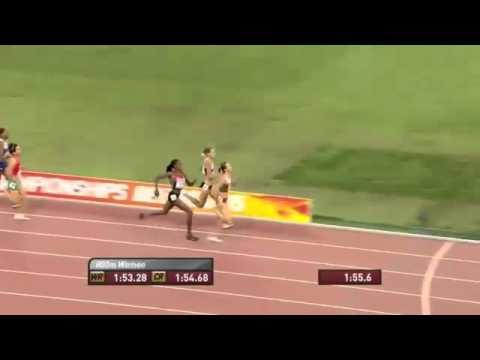 العداءة المغربية العرافي تحل رابعة في سباق نهائي 800 متر