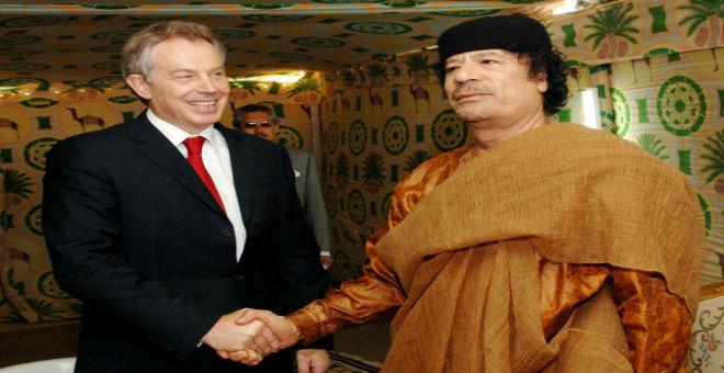 بلير حاول إنقاذ القذافي قبل قصف الناتو لليبيا