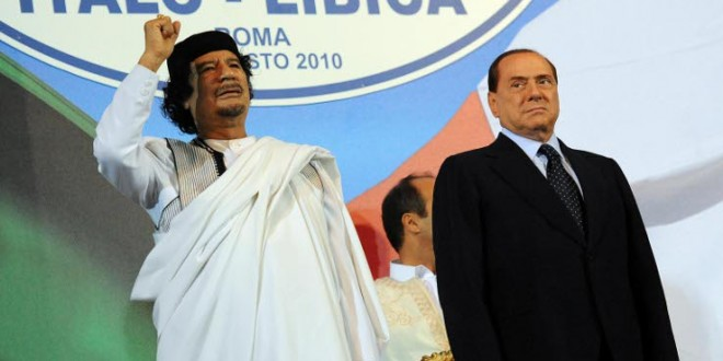 Ghaddafi Berlusconi