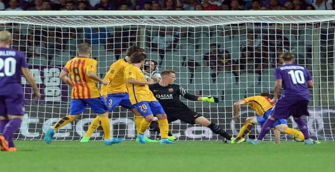 برشلونة ينهزم امام فيورنتينا في كأس الأبطال