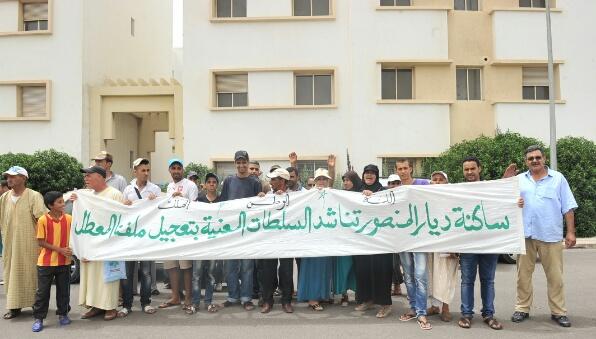 في مواجهة مافيا العقار..مواطنون بالمحمدية ''خادو حقهم بيديهم''