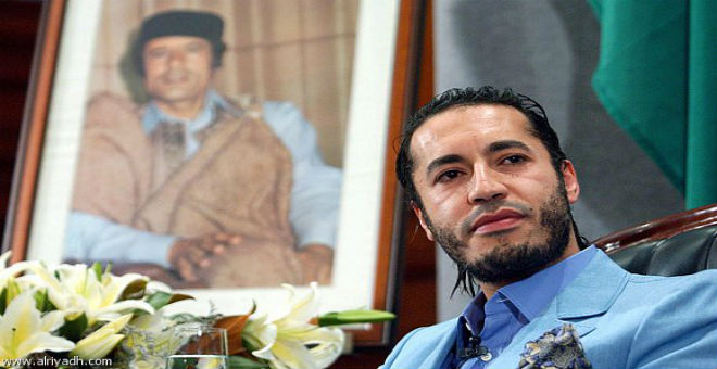 مقطع جديد للساعدي القذافي أثناء التحقيق في علاقته بداعش