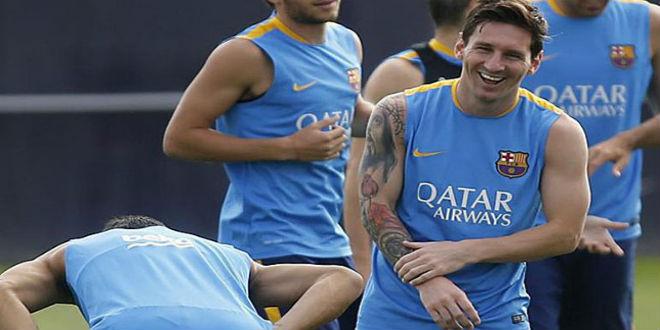 ميسي يعود لفريق برشلونة ببنية قوية