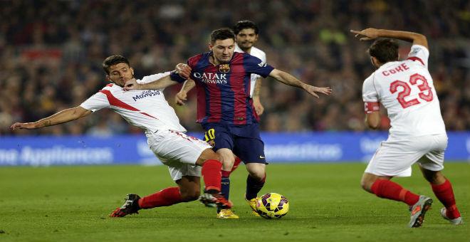 برشلونة يتوج بكأس السوبر أمام إشبيلية في مباراة مثيرة