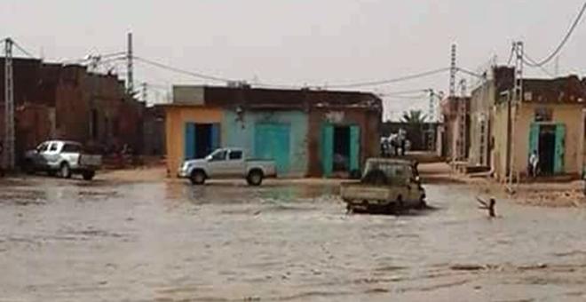 أمطار طوفانية تتسبب في تخريب 450 منزلا في جنوب الجزائر
