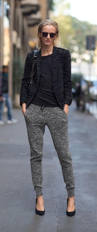 2015-spring-autumn-gray-linen-knit-cotton-drawstring-sweatpants-elastic-waist-carrot-pants-women-casual-pants