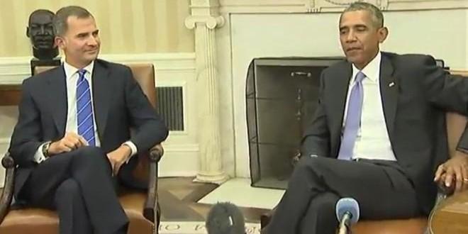 أوباما والعاهل الإسباني