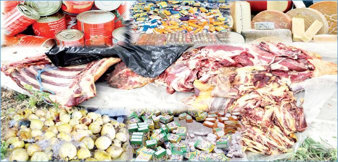 حجز وإتلاف أزيد من 71 طن من المواد الغذائية الفاسدة بجهة الرباط سلا