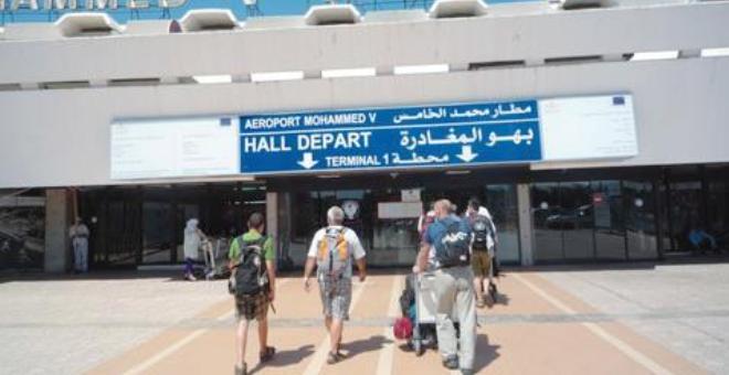 توقيف مواطنة من دول جنوب الصحراءبمطار محمد الخامس بشبهة تهريب