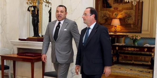 لقاء القائدين الملك محمد السادس و فرنسوا هولند