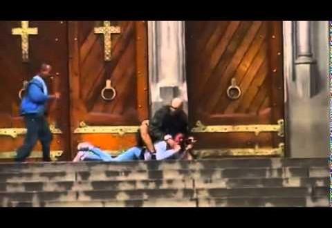 شاهد كيف خاطر متشرد بحياته لإنقاذ امرأة من رجل مسلح
