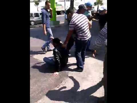 مواطنون يعتدون على لص بمدينة الدارالبيضاء