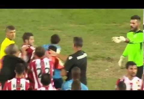 اعتداء فرنسي على لاعب جزائري