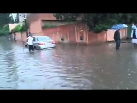 هكذا أصبحت مراكش بعد التساقطات المطرية