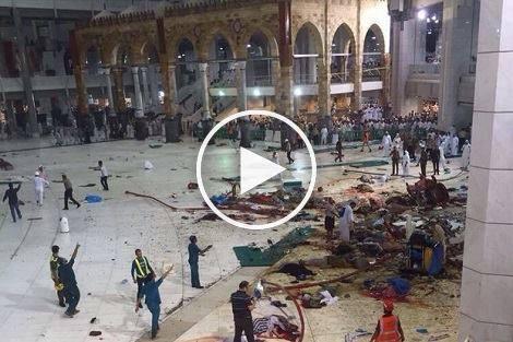 سقوط رافعة في الحرم المكي تخلف اكثر من 65 قتيلا