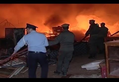 أخبار المغرب : إنفجار 60 قنينة غاز بمحلات تجارية بآزرو