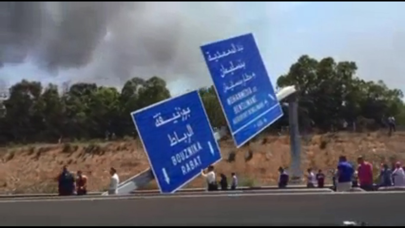 حادثة سير خطيرة على مستوى الطريق السيار الدار البيضاء الرباط