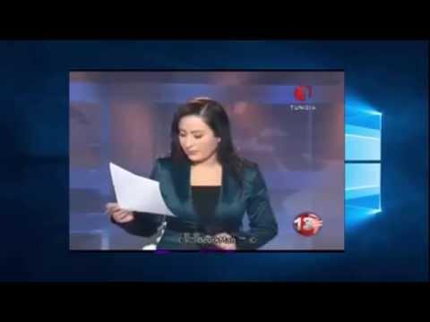 مذيعة تونسية تتعرض لموقف محرج على الهواء