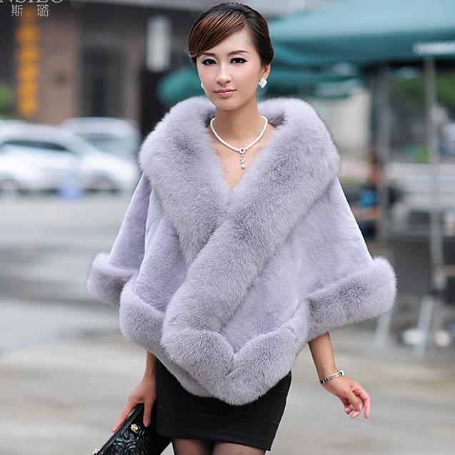 Autumn-Winter-Women-s-Genuine-Natural-Whole-hide-Mink-Fur-Shawls-Fox-Fur-Trimming-Lady-Bride
