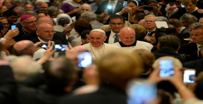 البابا فرانسيس يستقبل مثل نجوم السينما في نيويورك