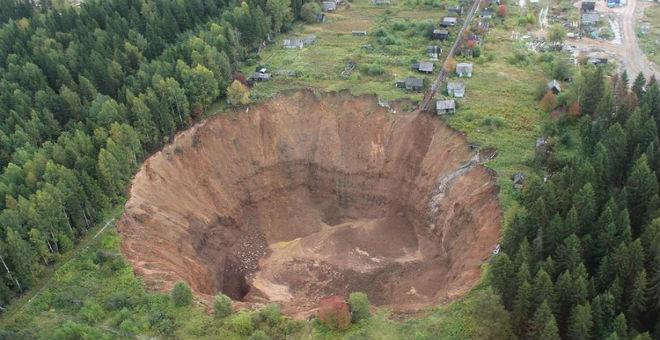 روسيا..حفرة نهاية العالم تزداد اتساعا!!