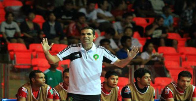 الدكيك : هدف المنتخب هو الوصول إلى كأس العالم داخل القاعة