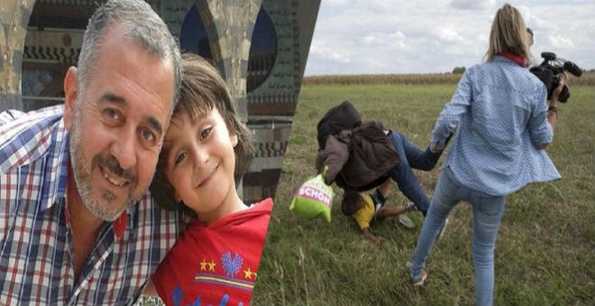 بعد إسقاطه من طرف المصورة المجرية اللاجئ السوري سيوقع لناد إسباني