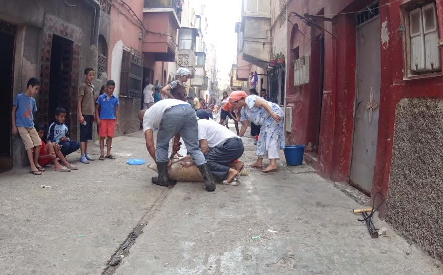 بالصور. هكذا مرت أجواء عيد الأضحى بالأحياء الشعبية بمدينة الدار البيضاء