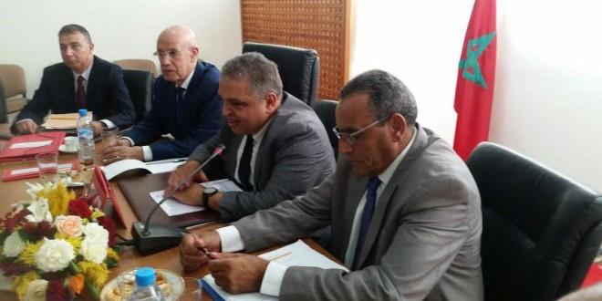 السيد مصطفى أمهال يتحدث بعد انتخابه رئيسا لجامعة غرف التجارة والصناعة والخدمات