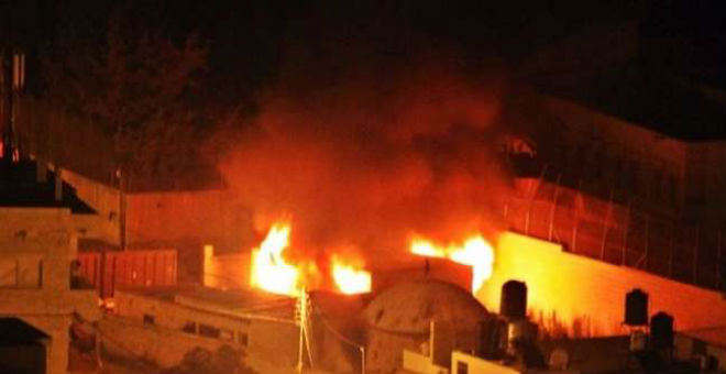 دولة الاحتلال تتوعد الفلسطينيين بعد حرق