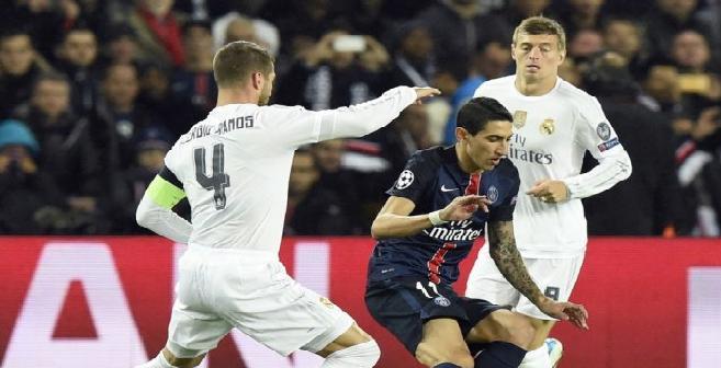 الريال يتعادل مع باريس سان جرمان في مباراة القمة