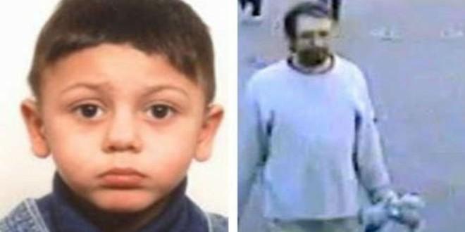 الطفل محمد ذو الأربع سنوات إلى جانب صورة المشتبه به