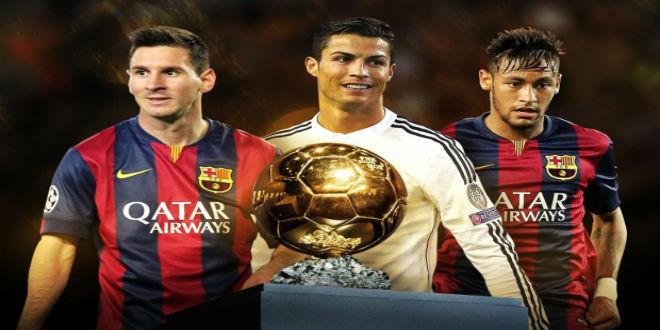 رونالدو وميسي ونيمار يتنافسون على الكرة الذهبية