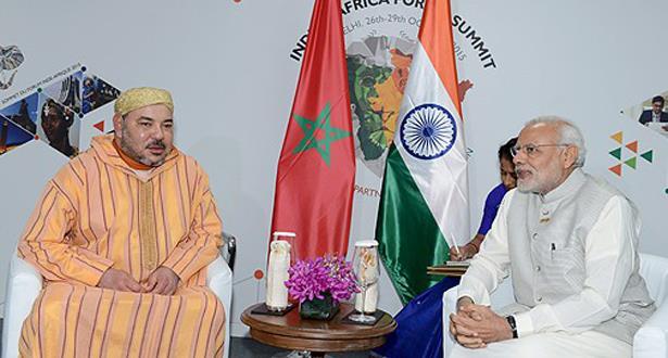 الملك يجري مباحثات مع الوزير الأول الهندي.. وقضية الصحراء في المقدمة