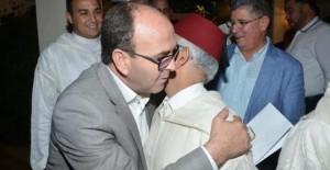 حكيم بنشماس الرئيس الحالي لمجلس المستشارين، والشيخ بيد الله، الرئيس السابق